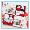 Calzini del cotone del fumetto di natale dei bambini all'ingrosso di inverno (1-8 anni) con i contenitori di regalo squisiti
