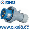 International Standard (QX-290)를 가진 비바람에 견디는 32A Single Phase Industrial Inlet