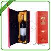 Caixa de exibição de vidro de garrafa de vinho de alto fim com inserção