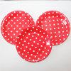 9  Partie de la plaque de papier, ronde Polka Red Dot les assiettes de papier