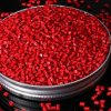 Materia prima di plastica di colore rosso per l'iniezione di plastica