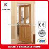 Schlafzimmer-Tür-Entwurfs-hölzerne Furnier-Blattbereiftes Glas-Tür