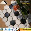 Nette Dekoration-sechseckige weiße und schwarze keramische Mosaik-Fliese