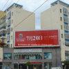 La thésaurisation incurvée sur le toit extérieur de la publicité de panneaux de 3 côtés