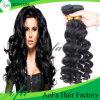 工場価格の自然なブラジルのバージンのRemyの毛の人間の毛髪のよこ糸