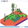 Diesel Oilへの黒いMineral Oil Refining Machine