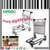 Carrello del bagaglio dell'aeroporto della lega di alluminio con il freno di mano