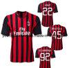 Migliore CA Milano Home Red e Black Soccer Jersey 2013 di Thai Quality 14 Player 45 pullover di EL Shaarawy del Ka del Ka di Balotelli con Free Shipping