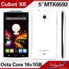 A MTK6592 Cubot X6 Octa Core 1 GB de RAM 16GB ROM Smartphone Android 5.0 Polegada IPS OTG HD Ogs 13MP Celulares