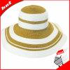 Mistura de cores Floppy Hat Chapéu de Palha