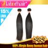 7A Peruvian Virgin Straight Human Hair, Unprocessed 100% Hair em 10 ''
