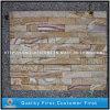 Pietra gialla/arrugginita della coltura del quarzo per il rivestimento della parete
