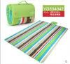 Ruarl Red e Green Color Bar Microfiber Picnic Blanket