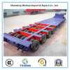 La Chine 53FT 8 essieux Lowbed 150t Heavy Duty semi-remorque