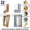 Ventana del marco abierto duradera con larga vida útil, roble sólido / madera de teca de aluminio Ventana del marco para Villa
