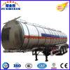 de 50tons 3axle del combustible del agua del petrolero de la aleación del tanque acoplado de aluminio semi