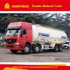 HOWO 8X4 대량 시멘트 유조 트럭 분말 물자 트럭