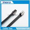 Chinese-Fertigung Belüftung-überzogene Edelstahl-Kabelbinder