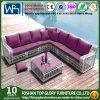 I sofà esterni della mobilia del giardino hanno impostato gli insiemi di vimini della mobilia con la Tabella 6PCS