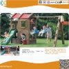 Les enfants Backyard Aire de jeux avec jeux de rotation en plastique et faites glisser