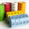 2017 étiquettes faites sur commande bon marché d'impression sur un roulis
