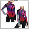 Mulheres Sports Wear OEM Service Customized Printed Pattern Cycling Jacket