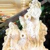 Fuente europea grande de la estatuilla de la decoración hermosa de la opinión del agua del suelo del jardín del hotel de la sala de estar de la charca de pescados de la fuente del jardín de rocalla de la escultura de la vida