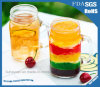 400ml alta taza de cerveza sin plomo transparente transparente con cubierta