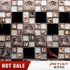 Estilo de la elegancia Crystal Glass Mix Metal Mosaico con patrón de rosa