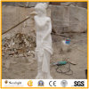 Cinzelando a escultura branca do mármore do jade da estátua de pedra para a decoração do jardim