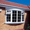 Color branco UPVC Awning/Casement Window para as Caraíbas Villa
