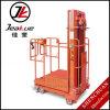 Drei Mast-halb elektrischer hochgelegener Rücklader/ein Mann-Aufzug