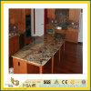 Partie supérieure du comptoir en pierre normale Polished de granit de Brown pour la cuisine/salle de bains (YQC)