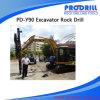 Installation montée par excavatrice hydraulique de forage de roche Pd-Y90 pour le perçage de forage