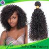 ブラジルのねじれた巻き毛の自然なカラー100人間の毛髪のブラジルのバージンの毛