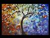 Peinture à l'huile abstraite d'arbre d'horizontal (LA1-001)