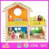 2014명의 새로운 아이 대중 나무로 되는 장난감 집은 장난감 나무로 되는 아이들 장난감 집, 최신 판매 아기 나무로 되는 인형 장난감 집 고정되는 공장 W06A053를 가장한다