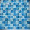Biue y Negro Piscina pared y el suelo de baldosas de mosaico de vidrio