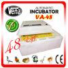 Incubadora de ovo de codorniz totalmente automático para 132 ovos