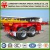 Deposito ligero de 2 ejes 20ft Skeletal Container Truck Trailer