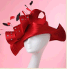 Повелительница Dress Hats/Millinery Hat/Red Hats для Lady Church