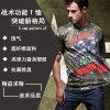 T-Shirt multifonction tactique avec personnage de bande dessinée T-Shirt de sport