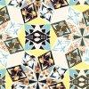 Tessile all'ingrosso del tessuto di seta di stampa di Digitahi di alta qualità (SZ-0073A)
