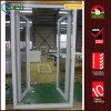 UPVC doppelte glasig-glänzende französische Türen, Vinylauswirkung-Schwingen-Türen