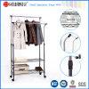 Ajustable extensible estante doble de acero-Rod Plataforma de prendas de vestir