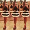 Горячее продавая Черн-Белое Striped миниое платье