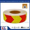 PVC autoadhésif Flèche vers la bande de perceptibilité d'avertissement de sécurité réfléchissant (C3500-AW)