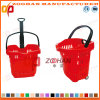 Chariot en plastique de panier à provisions de supermarché (Zhb17)