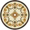 丸型のウォータージェットの大理石の円形浮彫りパターン