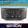 Witson Car DVD Player voor Nissan Sylphy 2012-2013 met ROM WiFi 3G Internet DVR Support van Chipset 1080P 8g